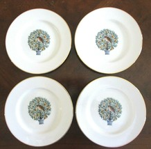 4 PC Partridge Pear Tree Dessert Plates Twelve 12 Days of Christmas Avon... - $33.65