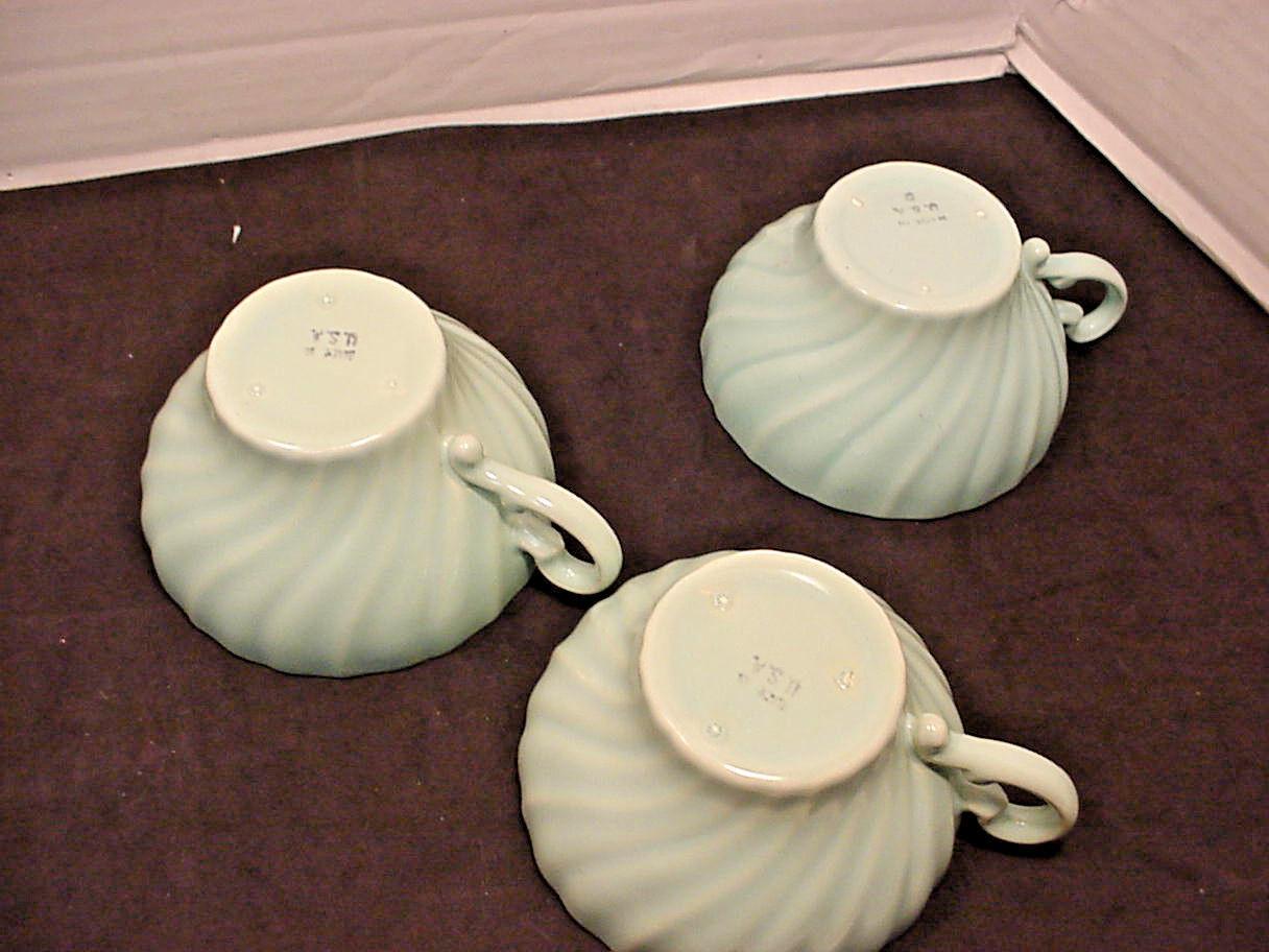 Franciscan Coronado Aqua Matte 3 Cups Flat Blue