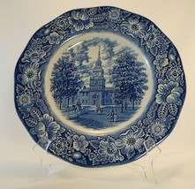 """Staffordshire Liberty Blue 9 3/4"""" Dinner Plate Independence Hall Floral ... - $9.99"""