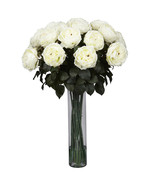 Fancy Rose Silk Flower Arrangement - $156.11