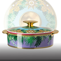 Rosenthal Versace Covered Vegetable Bowl Jungle Animalier New - $880.00
