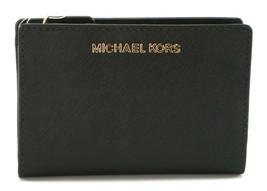 Michael Kors à Deux Volets Porte-Feuille Carryall Saffiano Cuir Noir M - $160.73