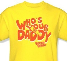 Who's Your Sugar Daddy T shirt yellow 80's 100% cotton graphic tee TR130 image 2