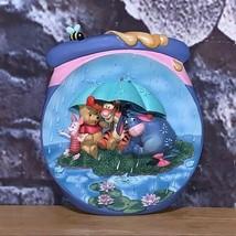 Winnie the Pooh Bradford Exchange Disney 3-D Hunnypot Plate Tigger Eeyore Piglet - $13.85