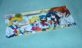 Sailor moon bookmark card sailormoon crystal inner group snack / tea time - $6.00