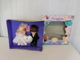 "Precious Moments Bride & Groom April & Andrew 10"" Dolls Rose Art 1997  RARE - $187.13"