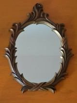 "Vintage Ornate Oval Mirror, Hollywood Regency Style, TURNER Accessory,~ 13"" tall - $89.90"