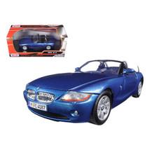 BMW Z4 Blue 1/24 Diecast Model Car by Motormax 73269bl - $29.91