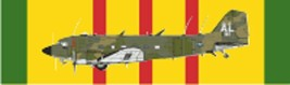 "Vietnam – Douglas EC-47P (Color) Decal 6"" Wide x 1.77"" High - $11.87"