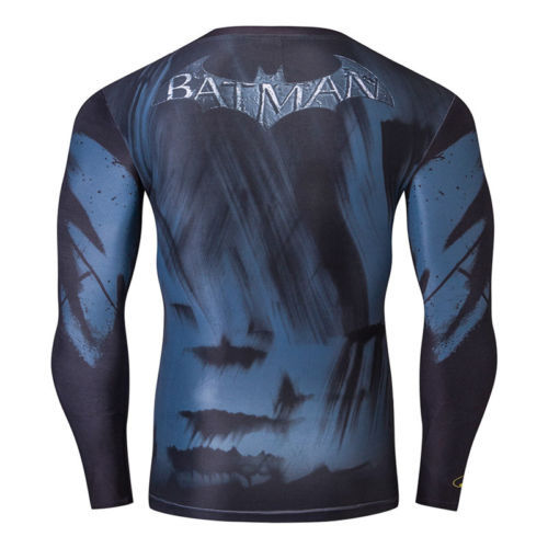 Mens Compression Long Sleeve T-Shirt Marvel DC Comic Cycling Jersey Tops 5d72d3c6a