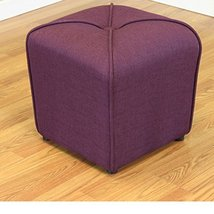 ModHaus Living Modern Linen Upholstered Footstool Ottoman with Thick Foa... - $98.83