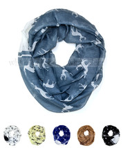 Deer Wild Animal Print Block Circle Loop Wrap Infinity Scarf Horn Casual... - $6.45