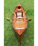 """39.5"""" x 190"""" x 25.5"""" Traditional Wooden Canoe With Ribs - $5,475.21"""