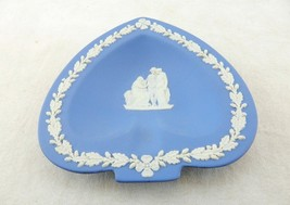 Trinket Dish, Pin Dish, Light Blue Wedgwood Jasper Spade Shaped Dresser Dish - $8.77
