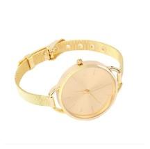 Women's Quartz Stainless Steel Wrist Watch Bracelet Gold AH2