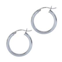 14K White Gold Hoop Earrings - $187.11