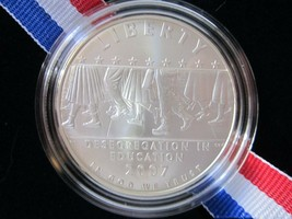 2007 Little Rock Desegregation Commemorative UNCIRCULATED Silver $1 Dollar - $33.99