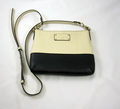 Kate Spade Crossbody Purse Handbag Grove Court Tenley Black Ivory Cream ... - $49.99