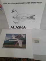 1988 Alaska Waterfowl Conservation Stamp & Print  By James  Beaudoin - $29.70