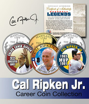 Baseball Legend CAL RIPKEN, JR. US State Quarter Colorized 3-Coin Set *L... - $9.85
