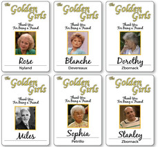 6 PC GOLDEN GIRLS CAST NAME BADGES TAGS HALLOWEEN COSPLAY MAGNET BACK - $84.14