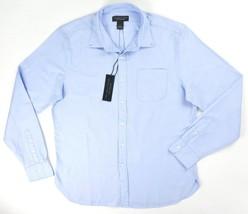 NEW $98 BLOOMINGDALES LIGHT BLUE BIRDSEYE OXFORD BUTTON DOWN COLLAR SHIR... - $26.68