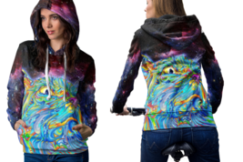 DMT Spirit Molecule Psychedelic cat trip Hoodie For Women - $42.99+