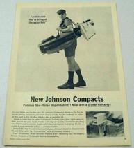 1963 Print Ad Johnson Sea-Horse Compact Outboard Motors Waukegan,IL - $12.81