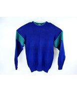 VTG Gap Men's Blue Green Color Block Knit Sweater Size Medium - $39.59