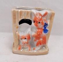 1940s Japan Orange Lusterware Scotty Dog Scottish Terrier Toothpick Matc... - $7.08