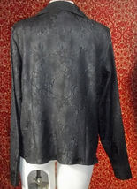KORET black wrinkle polyester long sleeve blouse 16 (T45-03G8G) image 6