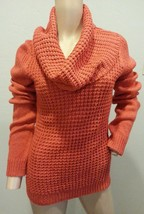 Angel of the North Anthropologie Orange Waffle Cowl Neck Wool Mohair Sweater S - $56.99