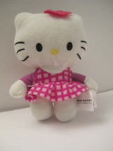 CUTE Trio of Small Plush Hello Kitty Sanrio Stuffed Cat Animal Toys NM Pre-Owned image 2