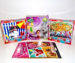 Lot of New Puzzles Disney Fairies PuzzleBug 100 PC. plus Disney Sticker ... - $11.29