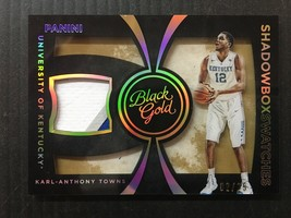 KARL-ANTHONY TOWNS 2016 PANINI BLACK GOLD SHADOWBOX SWATCHES /25 3COLOR ... - $29.02