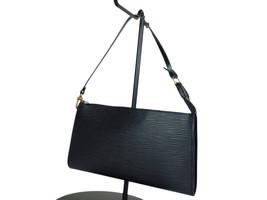 Authentic LOUIS VUITTON Pochette Accessoires Black Epi Leather Hand Bag ... - $339.00