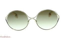 389016a82df9 Gucci Women's Sunglasses GG0253S 002 Gold Brown Gradient Lens Round  58mm -