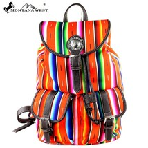 new Montana West Serape Collection Handbag Backpack canvas & pu leather~... - $49.99