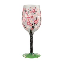 """Cherry Blossom """"Designs by Lolita"""" Wine Glass 15 o.z. 9"""" High  Gift Boxed"""