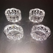Gorham Full-Lead Crystal King Edward Napkin Rings Set of 4 w/ Box - $19.31