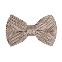 DBG3E01C Light Tan Solid Collection Design Pre-tied Bow Tie Woven Microf... - $13.93