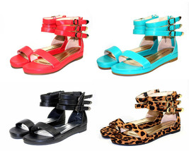 formula-04 NEW Zipper Buckle Flats Sandal Gladiator Party Beach Women's Shoes - $13.99