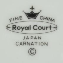 Royal Court Fine China Carnation Pattern Salad Plate Japan FLoral Flower... - $6.99