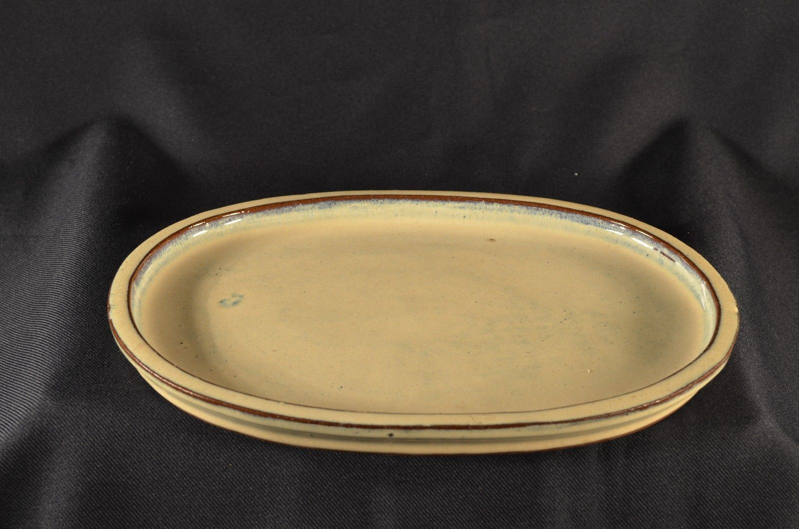 7 size beige,hexagon hard to find! Bonsai pot with matching tray