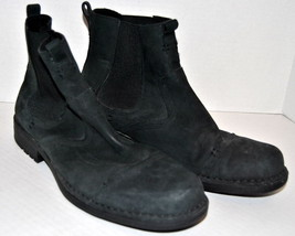Rockport Suede Short Boots Ankle Shoes US 11M, EU 44 Black Slip On Booties - $49.49