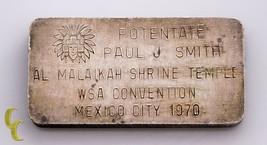 3 Oncia 999 + Argento Barretta Da Il Al Malaikah Tempio Wsa Convention 1970 - $237.67