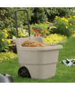 Utility Yard Lawn Garden Cart Durable Tool Rolling Cart Multipurpose Hea... - $45.99