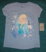 Disney Store Frozen Snow Queen Elsa Light Blue Tee Shirt size XXS 2/3 Girls.9340 - $19.79