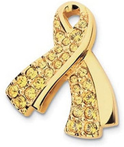 Swarovski Crystal USO Pave Yellow Lapel Pin - $45.00