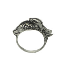 Sterling Silver Fish Dolphin Best Friends Pals Jewelry Pick Your Size Sp... - $22.59